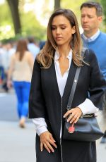 JESSICA ALBA Out and About in New York 05/11/2016