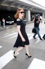 JESSICA CHASTAIN at Airport in Nice 05/10/2016