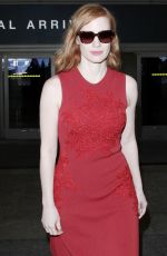 JESSICA CHASTAIN at LAX Airport in Los Angeles 05/13/2016