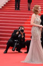 JESSICA CHASTAIN at 'Money Monster' Premiere at 69th Annual Cannes Film Festival 05/12/2016
