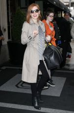 JESSICA CHASTAIN Leaves Her Hotel in New York 05/03/2016