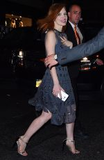 JESSICA CHASTAIN Leaves Met Gala After-party in New York 05/02/2016