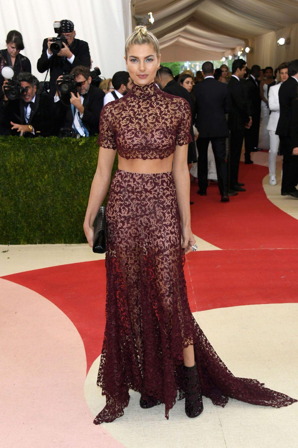 JESSICA HART at Costume Institute Gala 2016 in New York 05/02/2016