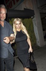 JESSICA SIMPSON Leaves Nice Guy in West Hollywood 05/10/2016