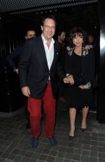 JOAN COLLINS Leaves Chiltern Firehouse in Marylebone 05/27/2016