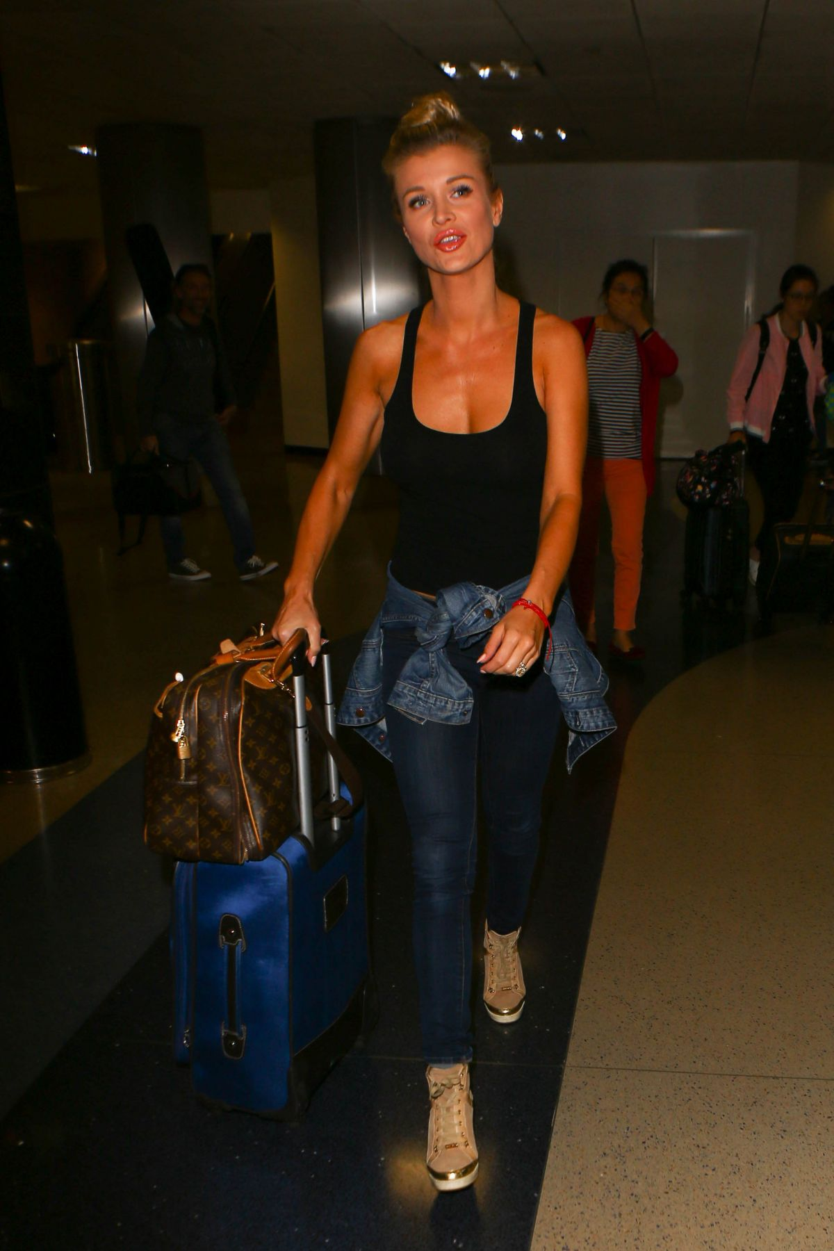 JOANNA KRUPA at LAX Airport in Los Angeles 05/13/2016