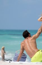 JOANNA KRUPA in Bikini on the Beach in Miami 05/05/2016