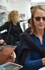 JODIE FOSTER at Nice Airport 005/10/2016