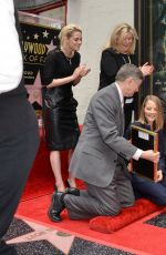 JODIE FOSTER Honored with Star on Hollywood Walk of Fame in Los Angeles 05/04/2016