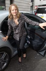 JODIE FOSTER Out in London 05/20/2016