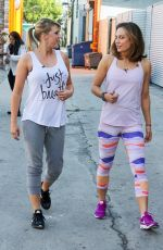 JODIE SWEETIN, PAIGE VANZANT GINGER ZEE and KIM FIELDS Films a Scene for DWTS Team Dance 04/29/2016