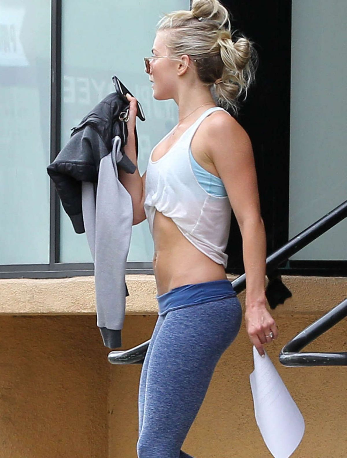 JULIANNE HOUGH Leaves a Gym in West Hollywood 05/26/2016