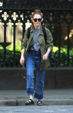 JULIANNE MOORE Out and About in New York 05/23/2016