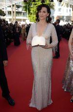 JULIETTE BINOCHE at 'The Last Face' Premiere at 69th Annual Cannes Film Festival 05/20/2016