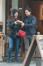 JULIETTE LEWIS Leaves Le Pain Quotidien in West Hollywood 05/09/2016