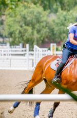 KALEY CUOCO at Horseback Riding in Los Angeles 05/13/2016