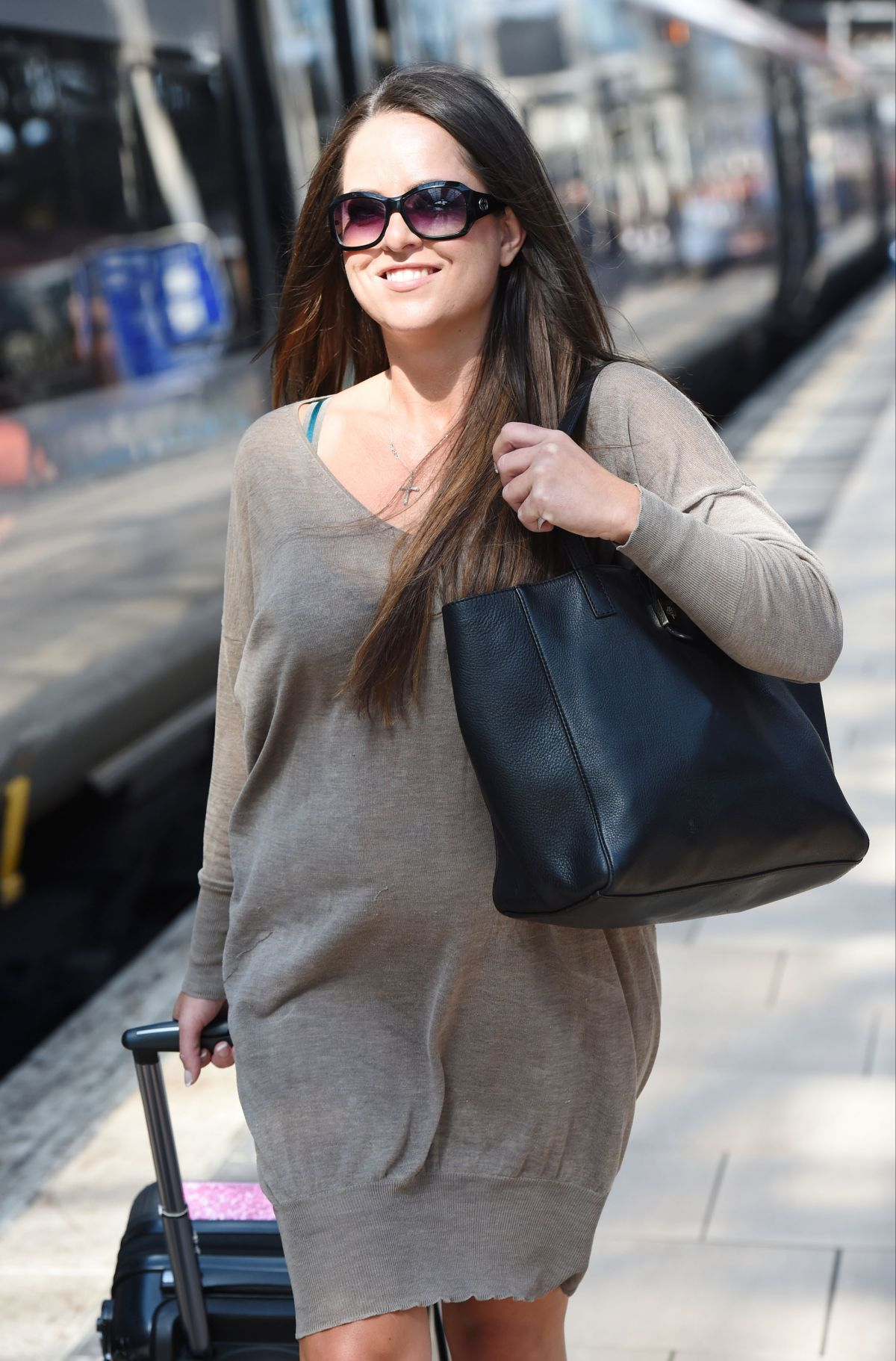 KAREN DANCZUK at Train Station in Manchester 05/12/2016