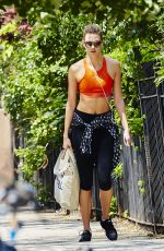 KARLIE KLOSS in Tank Top and Leggings Out in New York 05/23/2016