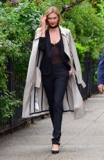 KARLIE KLOSS Out and About in New York 04/24/2016