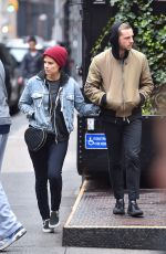 KATE MARA and Jamie Bell Out and About in New York 05/01/2016