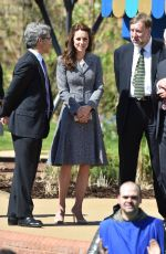 KATE MIDDLETON Opens Magic Garden at Hampton Court in London 05/04/2016