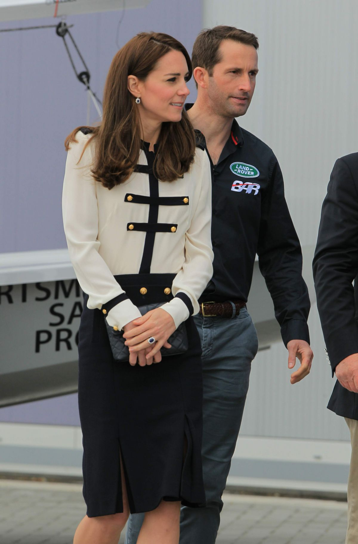 KATE MIDDLETON Visit BAR Land Rover America's Cup Team, May 2016