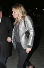 KATE MOSS Out for Dinner at Scott