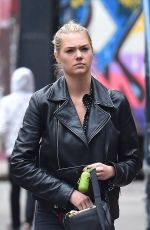 KATE UPTON Walks Her Dog Out in New York 05/01/2016