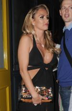 KATIE PRICE at Groucho Club in Soho 05/14/2016