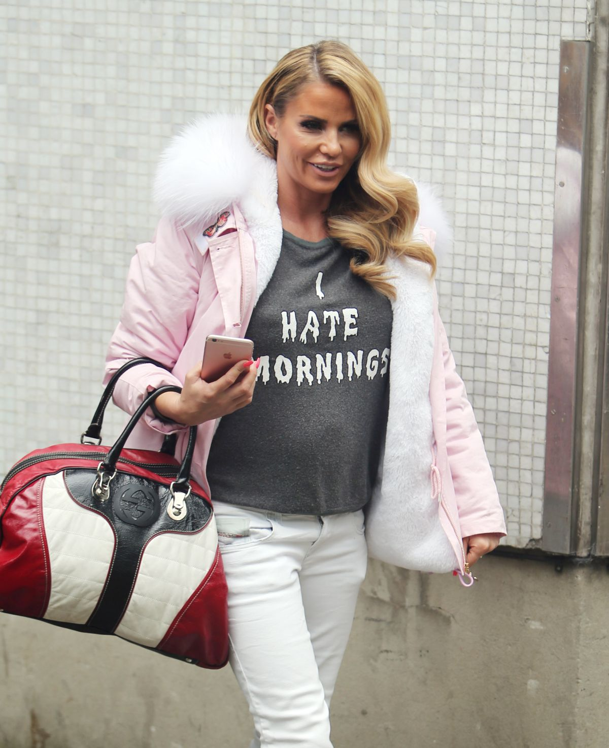 KATIE PRICE Outside ITV Studios in London 05/10/2016
