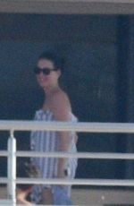 KATY PERY in Swimsuit at a Yacht in Cannes 05/15/2016