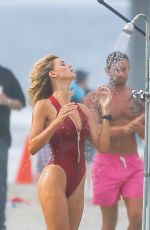 KELLY ROHRBACH in Swimsuit on the Set of