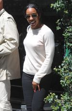 KELLY ROWLAND Leaves Mr. Chow in Beverly Hills 05/04/2016