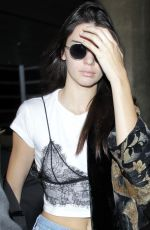 KENDALL JENNER at LAX Airport in Los Angeles 05/27/2016