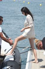 KENDALL JENNER in Bikini Jetskiing in Cannes 05/15/2016