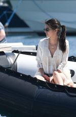 KENDALL JENNER on a Boat in Cannes 05/15/2016