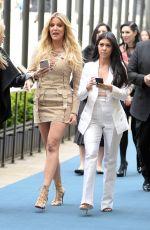 KHLOE and KOURTNEY KARDASHIAN Arrives at NBC/Universal Upfront in New York 05/16/2016