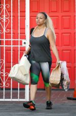 KIM FIELDS in Leggings at DWTS Studio in Hollywood 04/30/2016