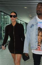 KIM KARDASHIAN and Kanye West at Heathrow Airport in London 05/22/2016