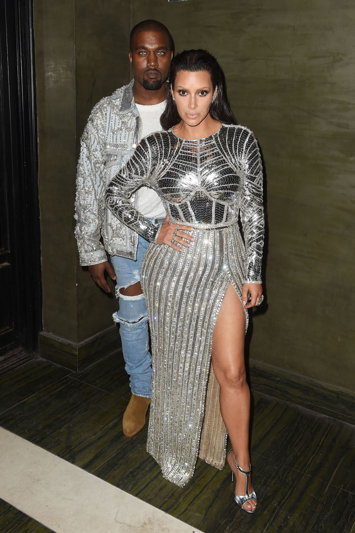 KIM KARDASHIAN and Kanye West at Met Gala After-party in New York 05/02/2016