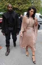 KIM KARDASHIAN and KANYE WEST Leaves a Hotel in London 05/21/2016