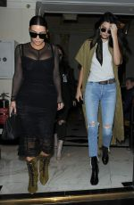 KIM KARDASHIAN and KENDALL JENNER Out for Lunch in London 05/23/2016