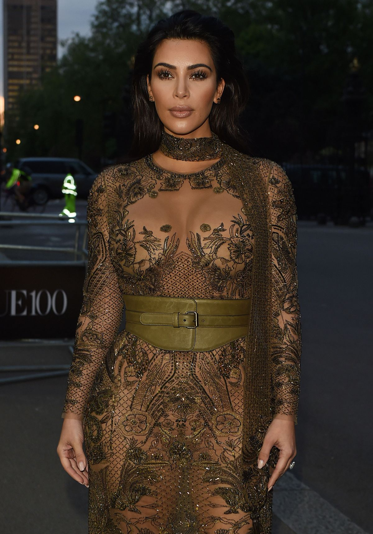 Kim Kardashian At Vogue 100th Anniversary Gala Dinner In