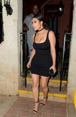 KIM KARDASHIAN Out for Dinner in Havana 05/05/2016