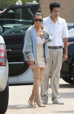 KIM KARDASHIAN Out for Lunch at Nobu in Los Angeles 05/14/2016