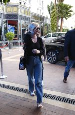 KIRSTEN DUNST in Jeans Out in Cannes 05/09/2016