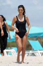 KOURTNEY KARDASHIAN in Swimsuit at a Beach in Miami 05/03/2016