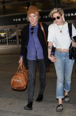 KRISTEN STEWART and ALICIA CARGILE at LAX Airport in Los Angeles 05/19/2016