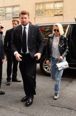 KRISTEN STEWART with Blond Hair Out in New York 05/02/2016