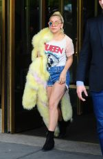 LADY GAGA in Jeasn Shorts Out in New York 05/11/2016